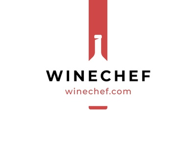 Winechef book alcohol sommelier bookmark wine bottle logo