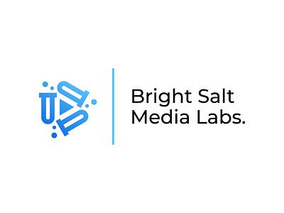 Bright Salt Media Labs. media video beaker flask chemistry test tube play logo