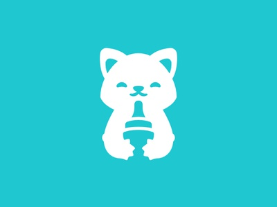Bitty Kitty Brigade dummy nipple cute animal care team shelter kitten cat sign logo