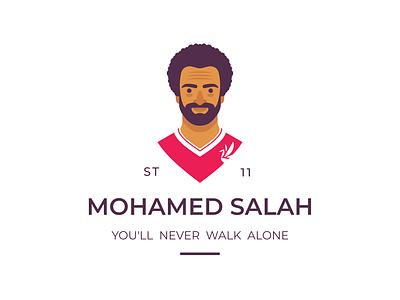 Mohamed Salah premier league flat salah mohamed club football fc liverpool logo