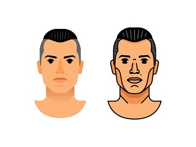 Cristiano Ronaldo man character flat line juventus real madrid champion soccer player football ronaldo cristiano illustration sign logo