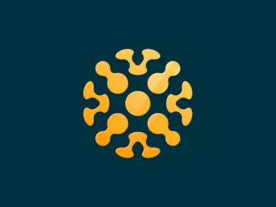 Globe high-tech abstraction planet earth circle ball sign logo