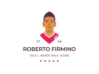 Roberto Firmino firmino roberto ynwa man logo liverpool illustration club football fc league premier english