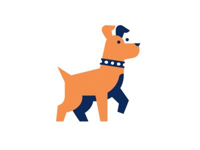 Dog pet animal collar hunting dog illustration sign logo