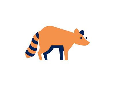 Raccoon flat raccoon animal illustration sign logo