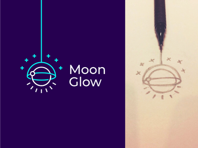 Moon Glow hiwow light satellite stars light bulb chandelier space moon lamp sign logo branding