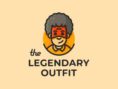 The Legendary Ouyfit hiwow curls t-shirt mask hero hairstyle afro boy man sign logo branding