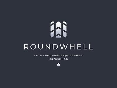 ROUNDWHELL hiwow road machine imprint trace tire wheel metal icon logo design sign logo