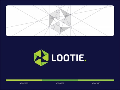 Lootie hiwow box loot lootbox green cube abstraction sign logo
