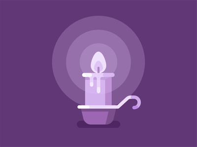 candle illustration flame fire candle light candlestick flat