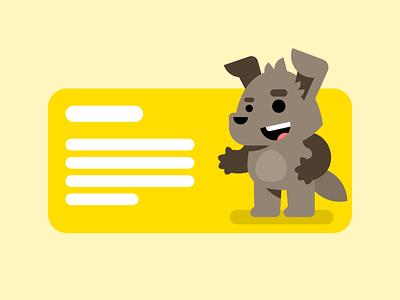 Animals illustration hiwow character illustration text animal flat mouse cat dog