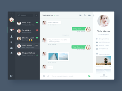 Day013-Chat  im daily dashboard chat app ux ui