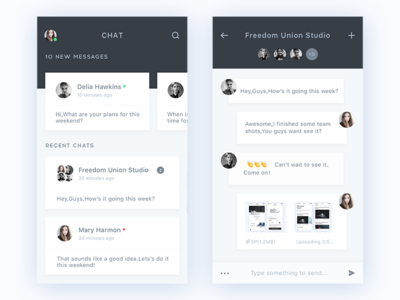 Day029-Chat App contact daily conversation chat clean ux ui