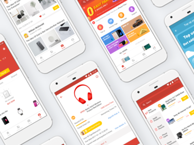 Day048-GoGoBuy APP lucky gamble colorful clean ux ui