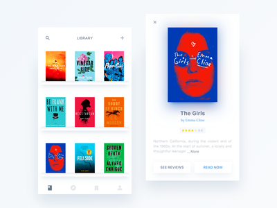Day050-Books APP books reading clean ux ui