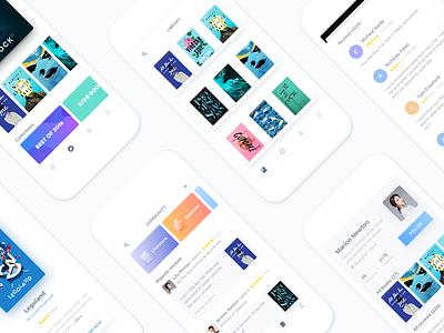 Day057-Books App ux ui reviews reading profile light community clean books