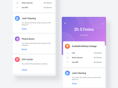 Scan Result safe scan battery ui ux network wifi boost