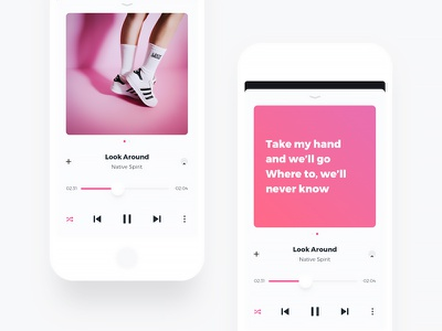 Now Playing player music clean now playing songs details ui ux