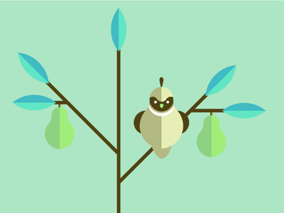 Partridge in a pear tree vector pear partridge xmas