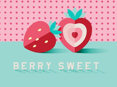 Summer fruit summer food flat vector illustration illustration strawberry