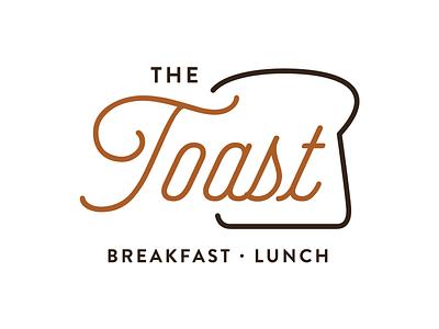 The Toast lunch breakfast toast branding logo