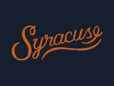 Syracuse lettering typography basketball syracuse