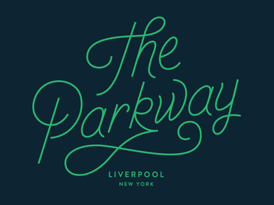 The Parkway syracuse type lettering typography