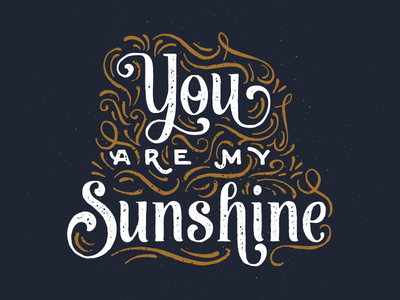 You Are My Sunshine texture lettering typography