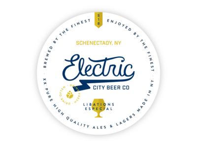 Electric City Brewing Coaster