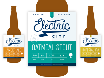 Electric City Label Design