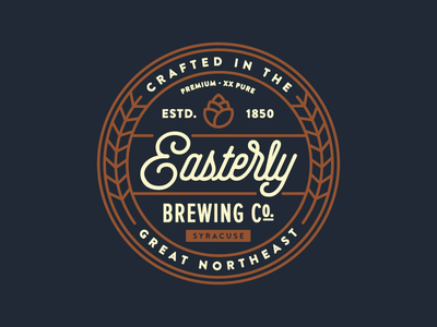 Easterly Brewing Co. syracuse badge brewery logo