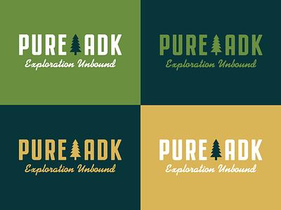 Pure ADK Logo Color Variations upstate new york adirondacks logo