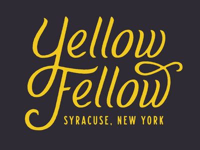 Yellow Fellow lettering typography