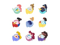Cute Princesses Collection