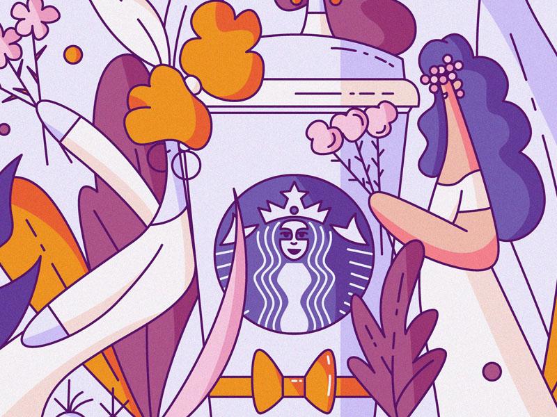 Starbucks Brides fetish foodie addict coffeeshop flat hiwow wedding bride coffee starbucks