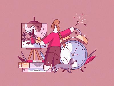 Chapter 2. Modi design painting designer flat vector cute character design illustration hiwow blog article