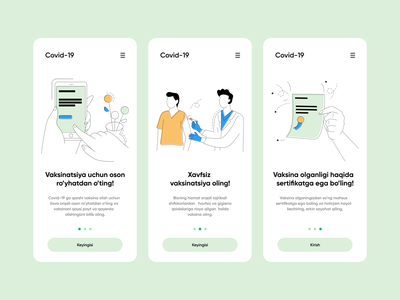 Special vaccination App for Covid 19 covid19 pandemic covid ux design ui design green color motion graphics animation adobe illustration userinterface ux ui