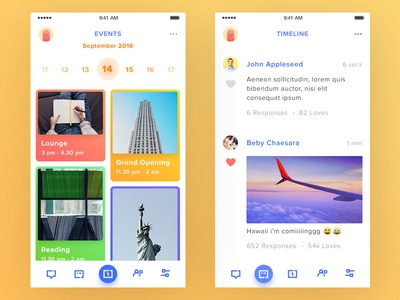 Group App Mobile simple white clean date picker icon freelance timeline event group ux ui mobile app