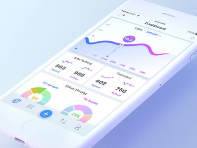 Seller Dashboard mobile branding seller fullcolor graph materialdesign ios app ux ui freelance dashboard
