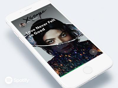 Spotify concept interface app sketch michaeljackson ux ui iphone8 spotify