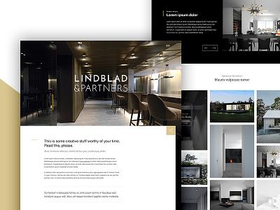 Lindblad & Partners webdesign clean ui ux website design web