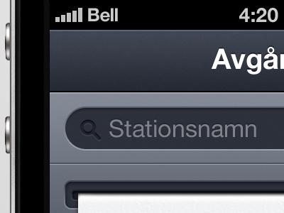 iPhone app in progress iphone app ui dark sweden stockholm