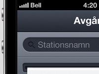 iPhone app in progress