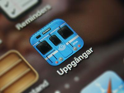iPhone app - WIP subway iphone app ios icon blue gui stockholm