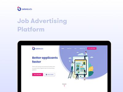 TalentAds - Website Landing Design web design illustration sketch design