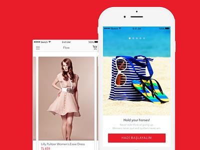 Flow iOS App UI Design design app mobile ios