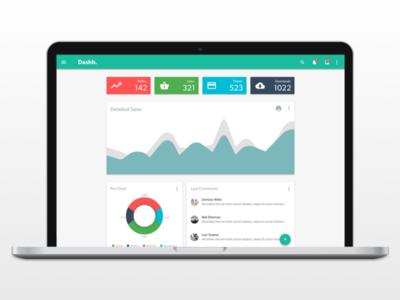 Dashboard Design admin material dashboard