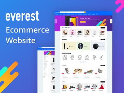 Everest - E-commerce Website Design e-commerce design result page ecommerce website ecommerce design ecommerce home page ecommerce
