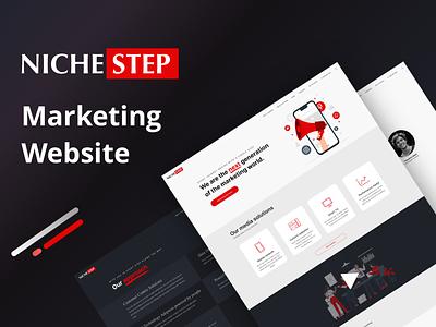 Niche-step Marketing Website Design ui marketing nextmockup nextmockup marketing site marketing design marketing agency marketing marketing website