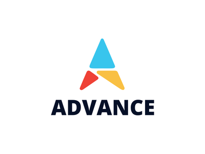 Advance Logo Option 1 modern minimal flat triangles advance a logo